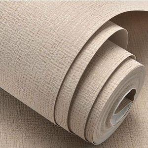 Weiß, Beige, Braun Strukturierter Simple Plain Solid Color-Wand-Papier Modernes Design Printed Tapete Rolle Wohnkultur