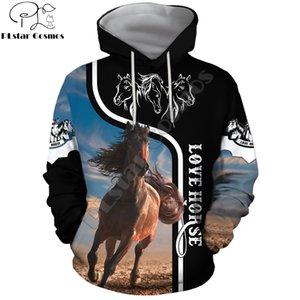 Beautiful Love Horse Design 3D Printed Mens Hoodie Streetwear Autumn Hooded Sweatshirt Unisex Casual Jacket Tracksuit DW0175