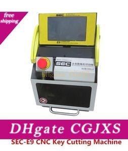Makine Oto Anahtar Yinelenen Makinesi ile Cutter / Orijinal Yazılım Kontrol Diş Kesme DHL Ücretsiz Kargo Sec -E9 Cnc Otomatik Anahtar Makinesi Anahtar