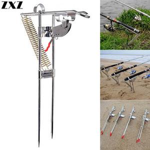 Automatique Pêche réglable pôle canne à repos Support à double ressort Support basculantes Crochet angle Fish Accessoires Appareil extérieur T4