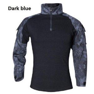 2020 Марка Одежда Новая осень весна мужчин с длинным рукавом Тактический камуфляж футболка Камиза masculina Quick Dry Army рубашка