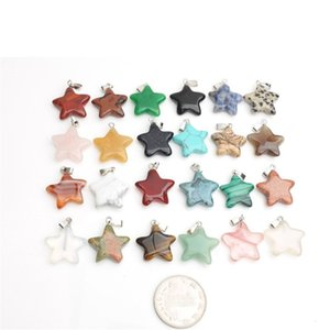 Cristalli pentagonale a forma di stella di modo del pendente agata pietra naturale pendenti di guarigione fai da te collana di nozze accessori per la Celebrazione 1 25jd B2