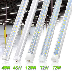65W LED Tubes en V 8ft 6000K R17d FA8 Base LED T8 Tube 45W ballast Bypass 8 pieds LED Tubes fluorescents d'ampoules