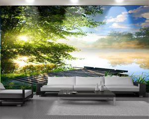 3d Wallpaper walls Romantic Landscape 3d Mural Wallpaper Beautiful Lake Scenery Custom 3D Photo Wallpaper Home Decor