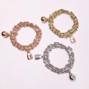 High Quality U Shape Lock Bracelet For Women Titanium Steel Bangle