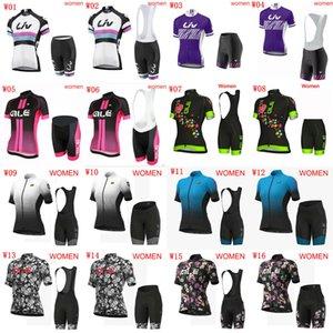 pantaloncini squadra ALE LIV estate delle donne in bicicletta Maglia Salopette impostati corte ciclismo pantaloncini corti in jersey insiemi traspirante MTB biciclette Uniforme S090202