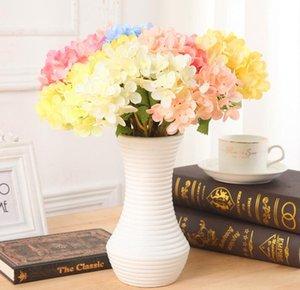 Fotografia Guida Mini Hydrangea simulato Fiore singolo Ortensia da sposa per le vacanze Seta Fiore della decorazione della casa Progetti Y73