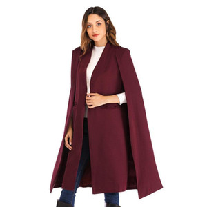 Fashion Long Trench Coats Women Turn Down Collar Full Sleeve Pocket Solid Streetwear Autumn Winter Ladies Clothes Ropa Mujer