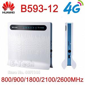 Huawei B593-12 100Mbps Wireless Router 4G LTE sem fio CPE Router Gateway de 100Mbps Móvel WiFi Hotspot Com SIM Card eIzr #