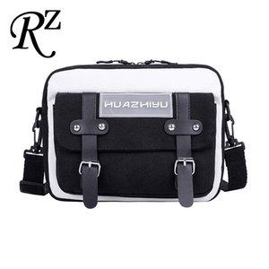 Messenger Bag Multi Bag Bags Ins Quadratischer Leinwand Einfache Postman Farbe Kleine Crossbody Kontrast Taschen Frauen Pocket Style Qdosg