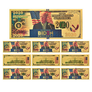 Spedizione gratuita Biden Moneta Commemorativa 2020 Stati Uniti elezioni generali Forniture 24K Gold Foil Banconota Plastic Head creativo della moneta