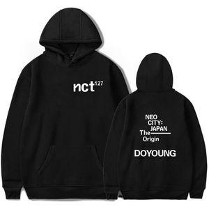 Kpop NKT 127 Koreli Kapüşonlular Kapşonlu NEO ŞEHİR JAPONYA Kökeni Arkadaş Kadın Erkek Tişörtü Streetwear Harajuku Büyük Boy Giyim