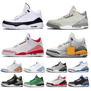 men basketball shoe COURT PURPLE Fragment 3 Reflective Black Cement VARSITY ROYAL wolf grey tinker Pure White Mocha Jth sports sneakers