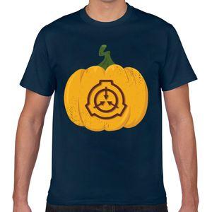 Tops T Shirt Men Scp Fundação abóbora seguros conter Protect Fit Inscrições Geek Imprimir masculino camiseta Xxx