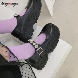 Lolita Lady Pucelle Performance uniforme boucle à tête ronde épais talon haut Muffin semelle épaisse seule chaussure cosplay Size35-39