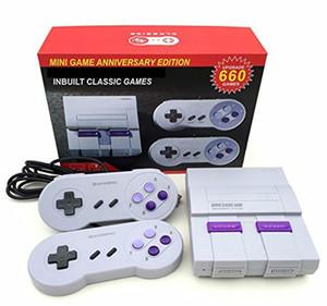 TV Handheld Mini Consolas Pode armazenar 660 jogos clássico jogo Super novo Entertainment System SFC NES SNES Viedo Jogos Console Box