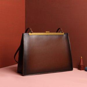 Shoulder Catwalk Am Anna New Inspired Bag 2020 Official Celebrity Vintage Bag Clasp Handbag Square Clip Haqfn