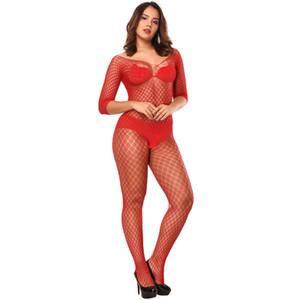 Ver throug bodycon manga corta de la entrepierna de la ropa interior de la ropa interior sexy pantimedias pijamas trajes para las mujeres ropa de dormir y lo hará regalo de arena