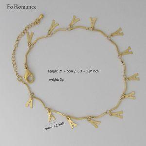 "FoRomance / 8,3 ""+ 1.97"" - GELB GOLDgp Buchstabeinitiale INITIALS AVAILABLE A B D R TEIL Armband Fußkette"