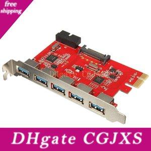Alta velocidad 5 puertos USB 0.0 3 Para Adaptador PCI -E Tarjeta PCI Express Converter 20 pines a USB 0.0 Dispositivos 3