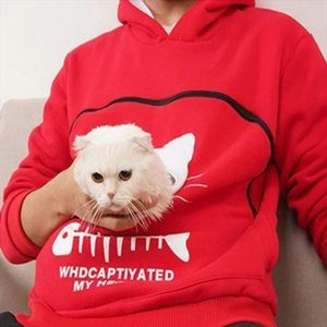 5 Color Pet Carrier Hoodie Sweatshirt Kitten Puppy Holder Animal Pouch Hooded Sweatshirts For Girls Women