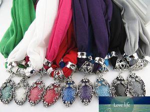 Bufandas de la joyería nuevo diseño de gota pendiente de la bufanda del collar de perlas borla Señora del encanto para las mujeres