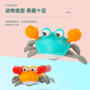 Children Both Simulation Leash Paddle Amphibious Crabs Boy And Baby Shower Toy Crawling Toy Crabs Girl Hdmoq