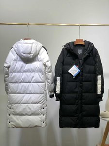 Fashion Mens Womens Down Jacket for Winter Keep Warm Parkas Jackets High Quality Unisex Parkas Down Coats 2 Colors White Black Size S-2XL