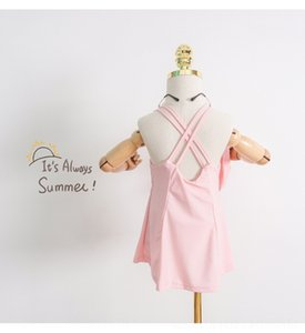 n0kJb Sling девочки девочки юбки быстросохнущей SUSPENDER юбки детского купальника принцесса SUSPENDER корейского один цельный купальника