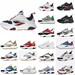 Dior B22 Sneaker Erkek Tasarımcı Ayakkabı bağbozumu Sneakers Tuval Ve Dana derisi Eğitmenler Lüks Unisex Düşük En Casual Ayakkabı 20color Büyük boy 35-4 Erbe #