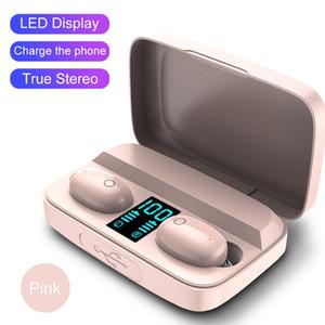 A10S TWS HiFi Touch Control Casques d'écoute sans fil écouteurs Sport Auto Pairing Affichage batterie avec charge magnétique Boîte universelle