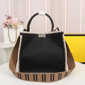 Tote Bag di grande capienza del pacchetto della borsa di modo di moda Litchi Grain in pelle di vitello Materiale maniglia tracolla rimovibile F Lettera