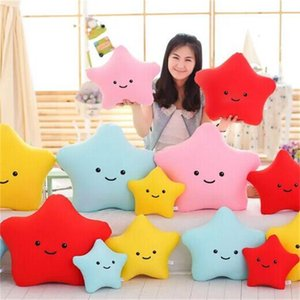 4 Colors Star Shaped Pillow foam grain Starfish bolster Toys Cartoon Plush Filled Super Soft Sofa Chair Decoration Cushion Doll