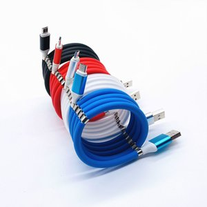 1M العالمي امتصاص المغناطيسي الذاتي تعرج USB إلى شاحن نوع C كابل بيانات الشحن السريع الحبل السري لموبايل الهاتف المحمول اللوحي