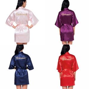 Soie élégante demoiselle d'honneur Robes Pyjama Jupes Cardigan habiller robe de soirée grande taille Vêtements pour femmes robe de soirée de Lady Prom c2