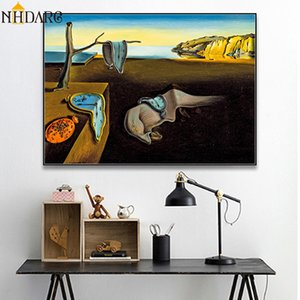 Salvador Dali La persistance de la mémoire Clocks Surreal Toile Impression Affiche de peinture d'art mur photos pour Living Room Home Decor