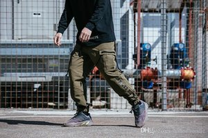 Tasarımcı Kargo Pantolon Gündelik Gevşek Kaykay Giyim Pantolon Pantalones Çoklu TKPA Mens Cepler