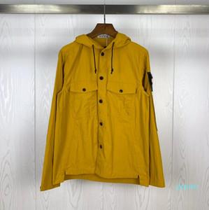 Fashion-стилиста Мужская куртка с капюшоном толстовки Casual Sport Coat Tracksuit Island мужской открытый Ветровка Дизайнер ветровки Stone Sportswear