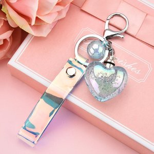 Day Love Keychain Heart Gift Chain Colorful Keyring Light Led Crystal For Fq Bubbles Ring Valentines Air Key fles_tsetqXT whole2019