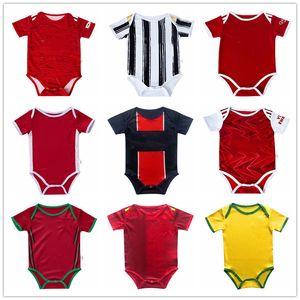 Baby Soccer Jersey Man 2020 21 Utd Bambin 6-18 Mesi palla Bambina infantile Bodysuit 20 21 Real Madrid Brawling Vestiti Futbol
