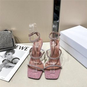 The summer classic crystal high heel sandal,Versatile and comfortable leather upper with high-heeled sandals With box size 35-40