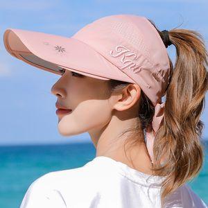 2020 Snapback Summer Visor Sunhat for Men and women Unisex Cap Adjustable Adult Outdoor Sun Shade Outdoor Protective Sun Hat