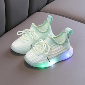 1-3-5 anos dos homens de coco oI3UY do bebê da mola de idade e outono malha suaves sneakers criança oca suporte para sapatos de coco crianças filhos de