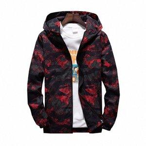 MORUANCLE 2019 para hombre primavera Camo chaqueta de las chaquetas de camuflaje con capucha informal para los jóvenes más el tamaño M 7XL prendas de vestir exteriores # 23Ie