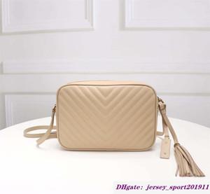 2020 bolsas Famoso alta qualidade Mulheres pelica de couro real Zipper bolsa chevron desenhador Tassel mensageiro saco câmera lou macio bage 520534