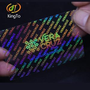 Custom design secure label transparent shining 3D hologram overlay label