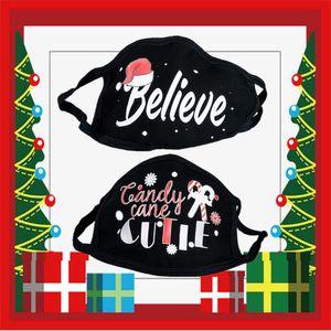 US Warehouse Christmas Party Masks 2020 Letter Slogan Men Women Protective Face Masks Mouth Cover Reusable Designer Masks Washable Santa