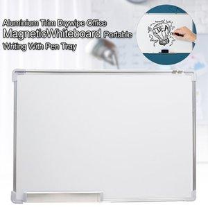 Magnetic Whiteboard Drywipe Wall Mounted With Pen Tray Presentation Double Side
