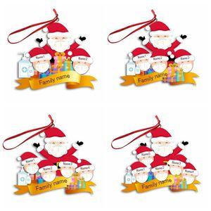 Decorazione di Natale fai da te Old Man del pupazzo di neve maschera Ciondolo Albero di Natale ornamenti di natale decorazioni d'attaccatura di natale decorazione del partito regalo OWE1888