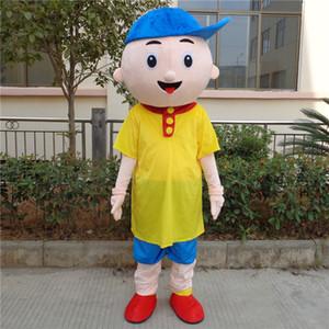 Caillou Mascot Costume Adult Tamanho Trajes Caillou Boy Mascote dos desenhos animados para o Dia das Bruxas do partido do evento